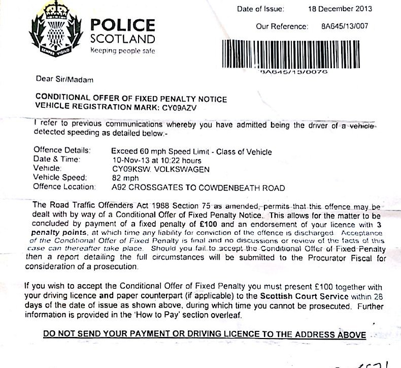 Scottish Law Parking Tickets Template Letter Of Appeal